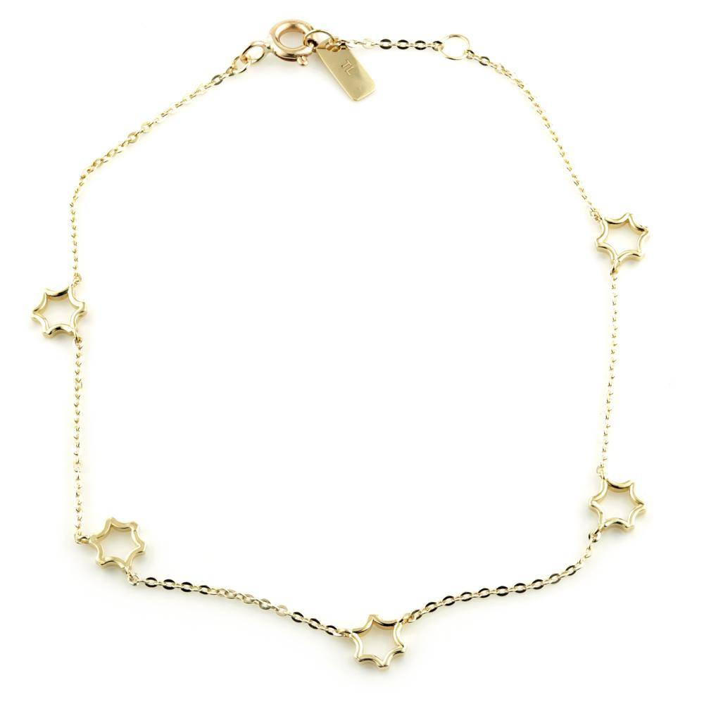 9ct Solid Gold Dainty Daisy Choker Chain Necklace