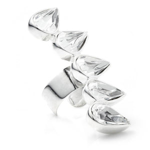Sterling Silver Multiple Tear Ear Cuff