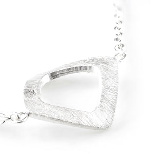 925 Sterling Silver Open Square