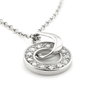 Surgical Steel CZ Halo Pendant