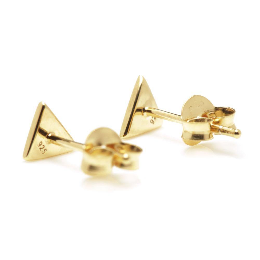Gold Vermeil Small Triangle Stud Earrings