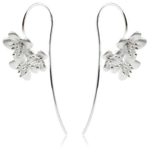 Sterling Silver Daisy Pull Through Earrings