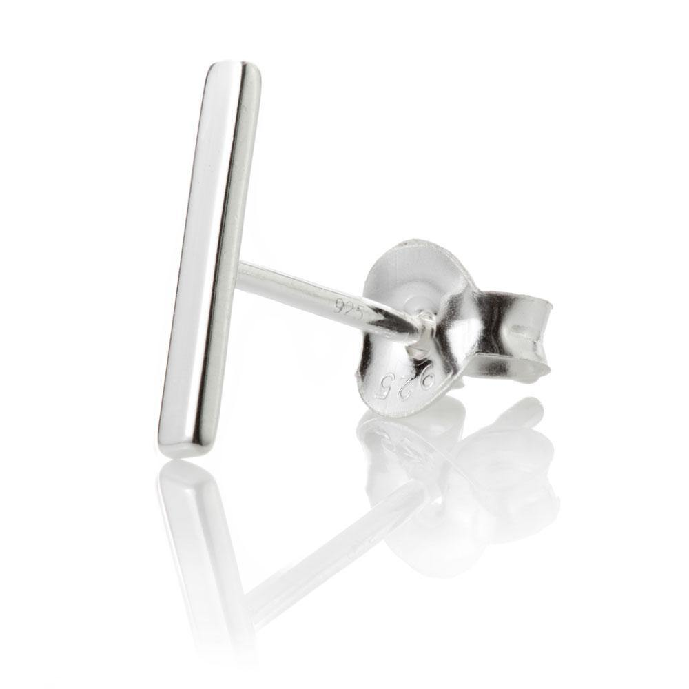 Sterling Silver Small Bar Stud Earring