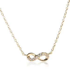 Gold Vermeil Crystal Infinity Choker Necklace
