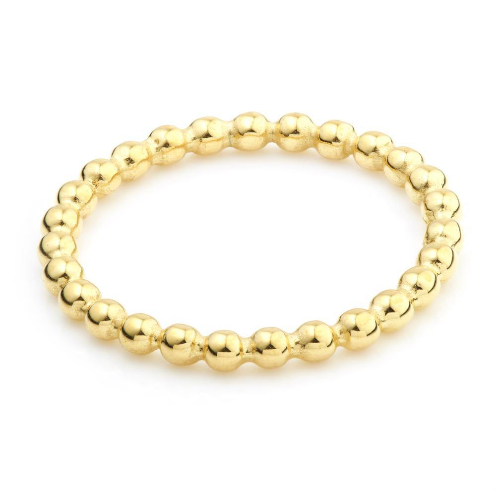 Gold Steel Bubble Stacking Ring