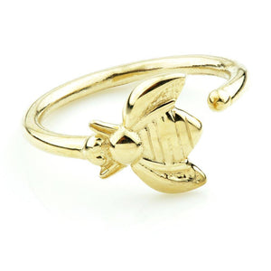 Open image in slideshow, Solid Gold Bumblebee Twist Rook Ring