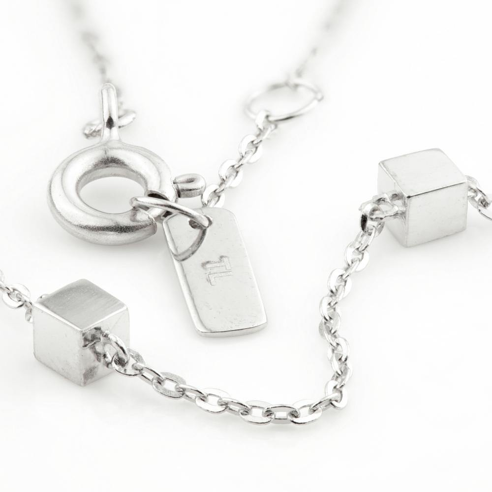 Tiny Cuber Choker Necklace in 9ct White Gold