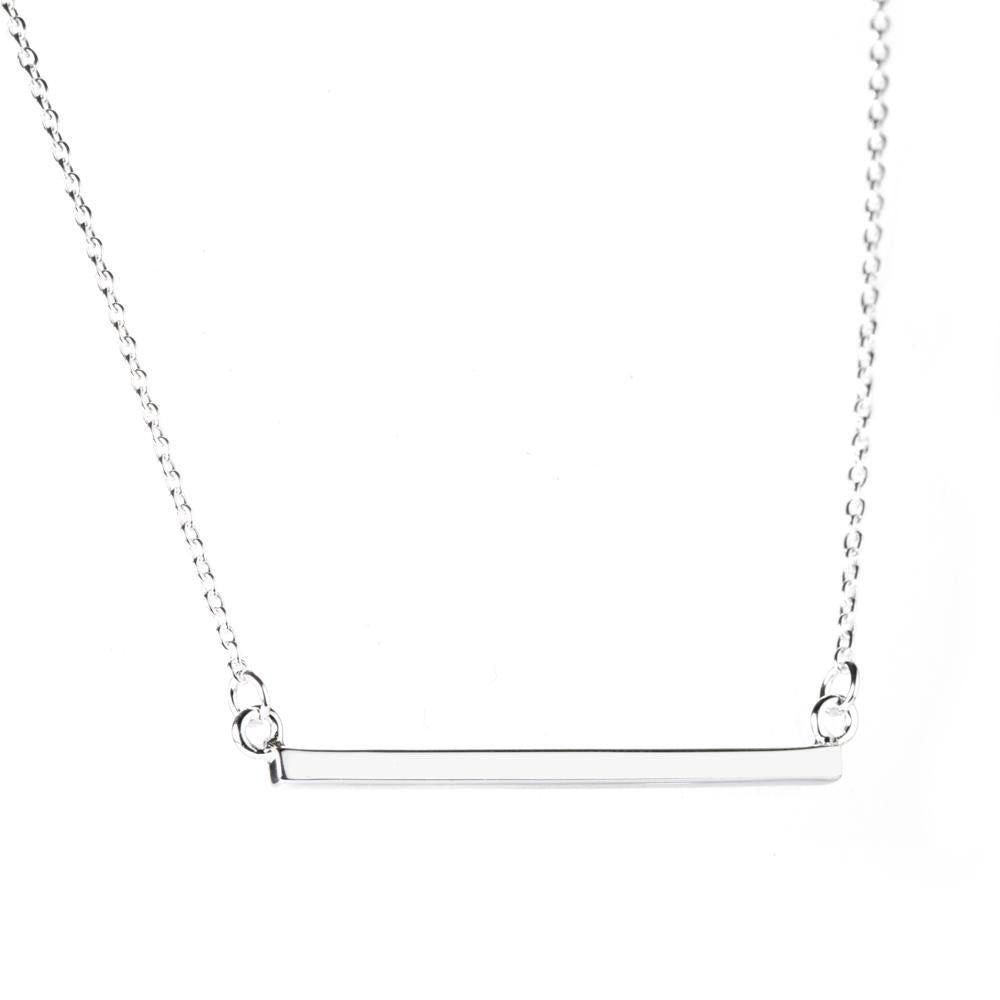 Sterling Silver Bar Choker Necklace