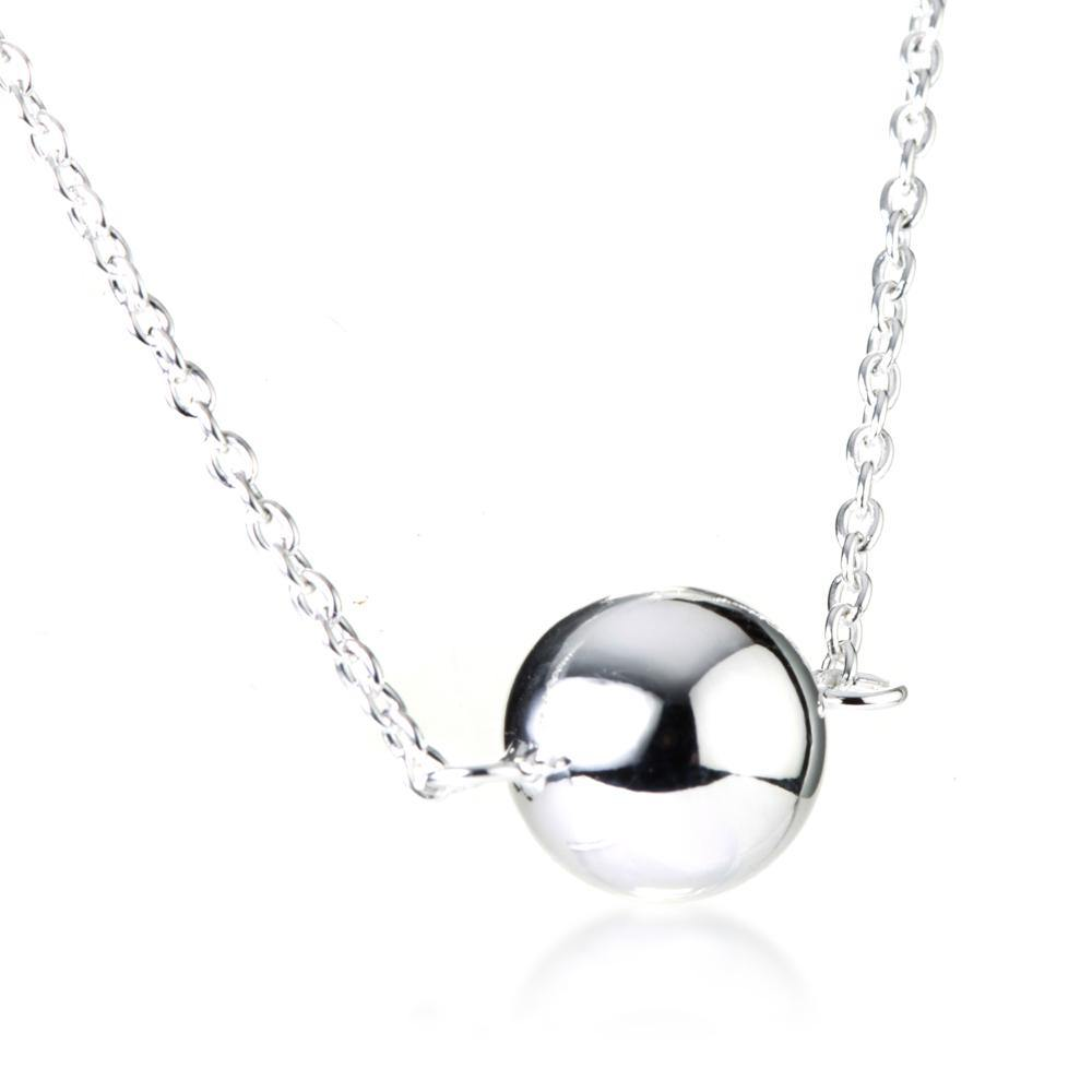Sterling Silver Orb Choker Necklace