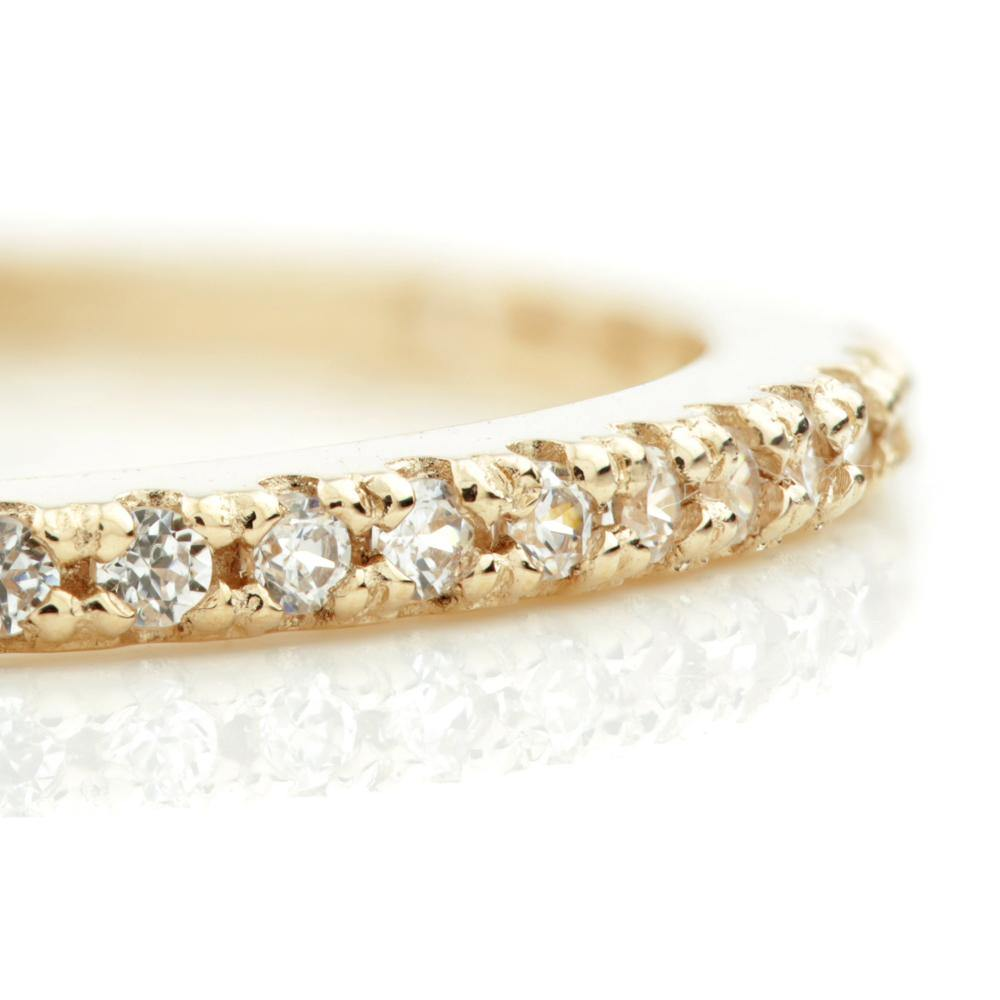 9ct Rose Gold Crystal Eternity Stacking Ring