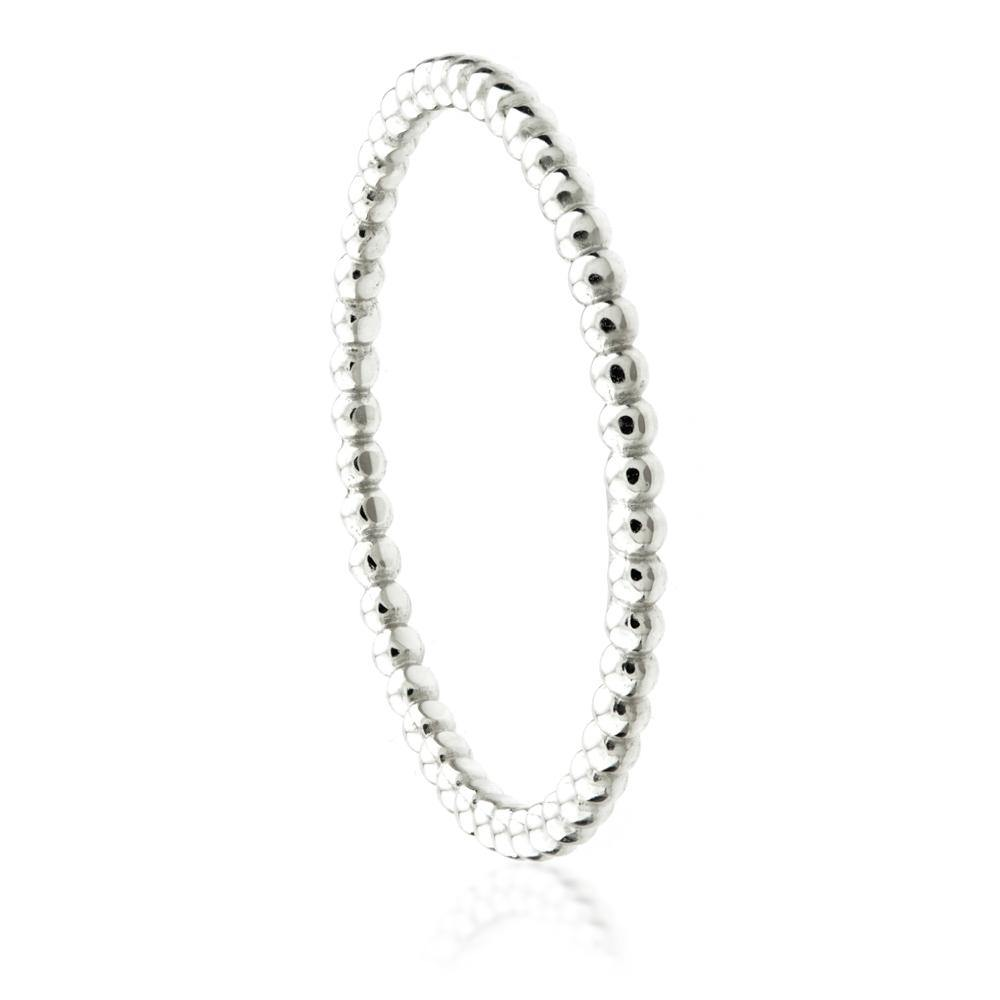 9ct White Gold Bubble Stacking Ring