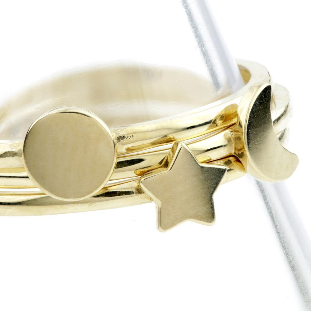 9ct Gold Triple Stacking Ring Set