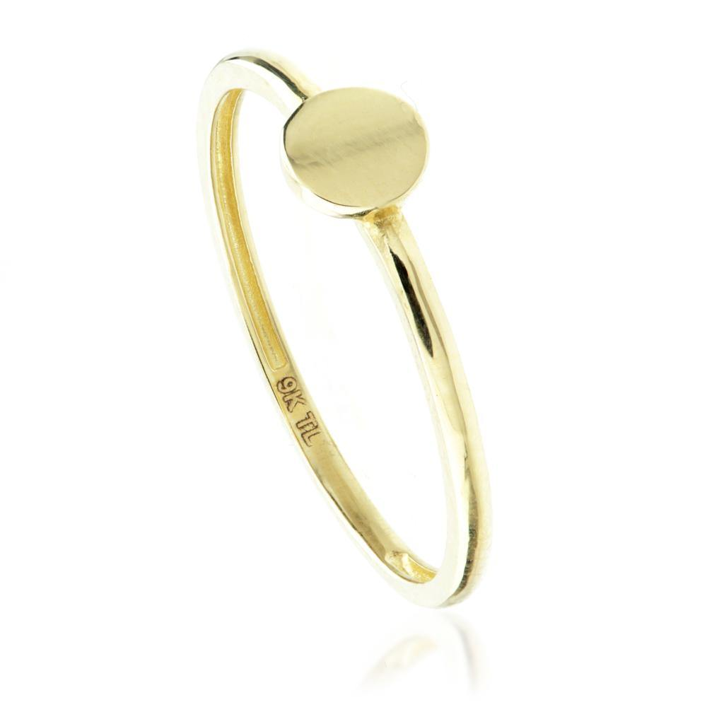 9ct Gold Stacking Ring with Circle