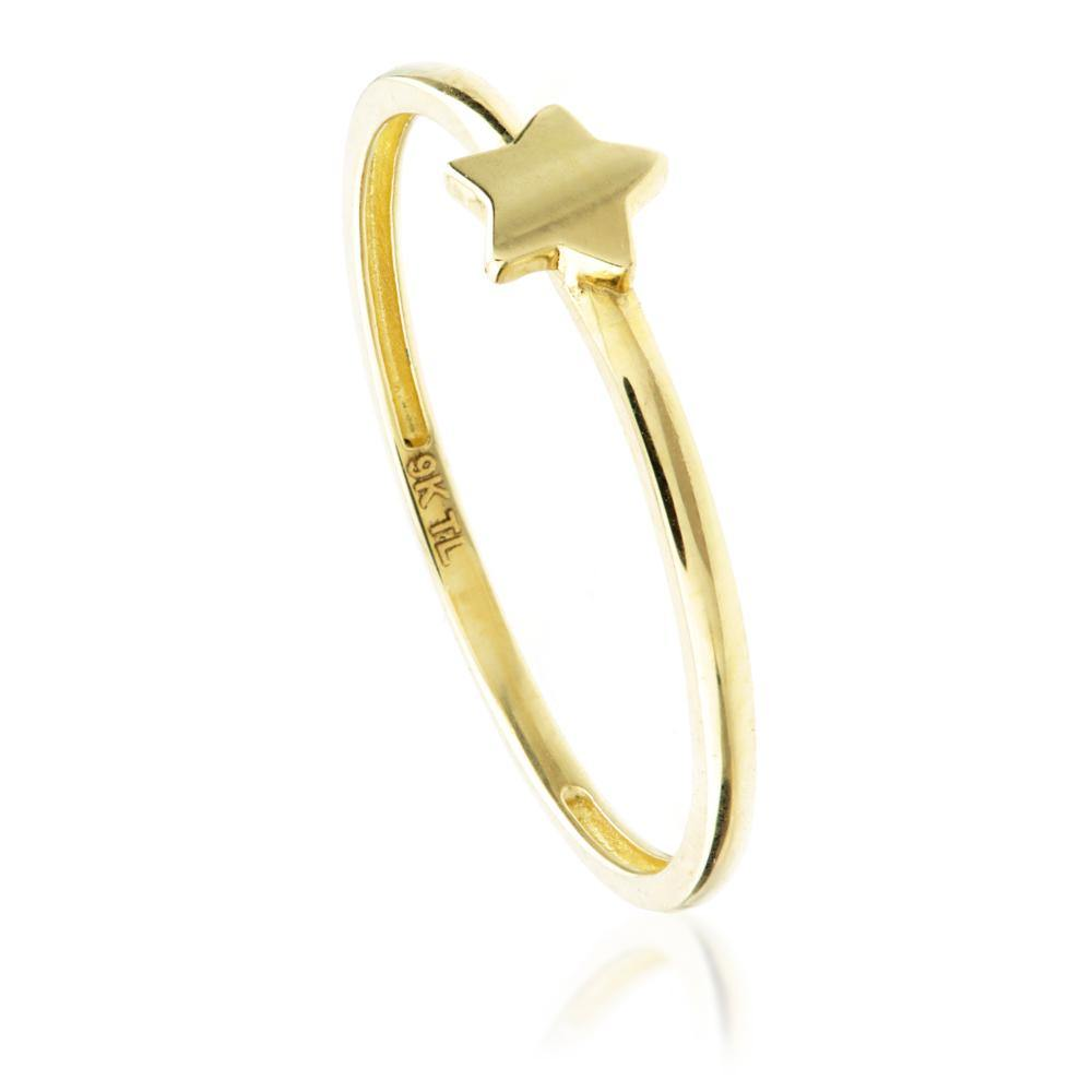 9ct Gold Stacking Ring with Star