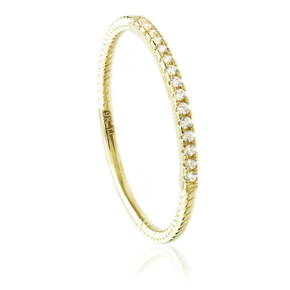 Stacking Ring in 9ct Yellow Gold