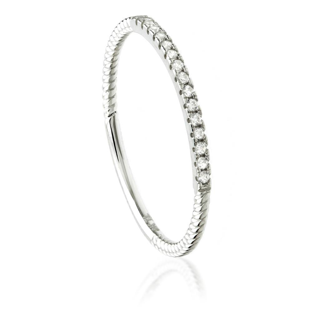 Stacking Ring in 9ct White Gold