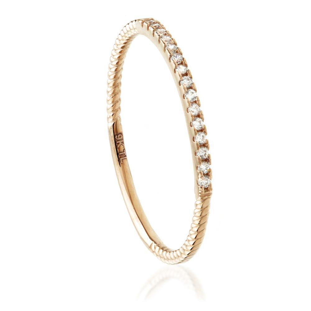 Stacking Ring in 9ct Rose Gold