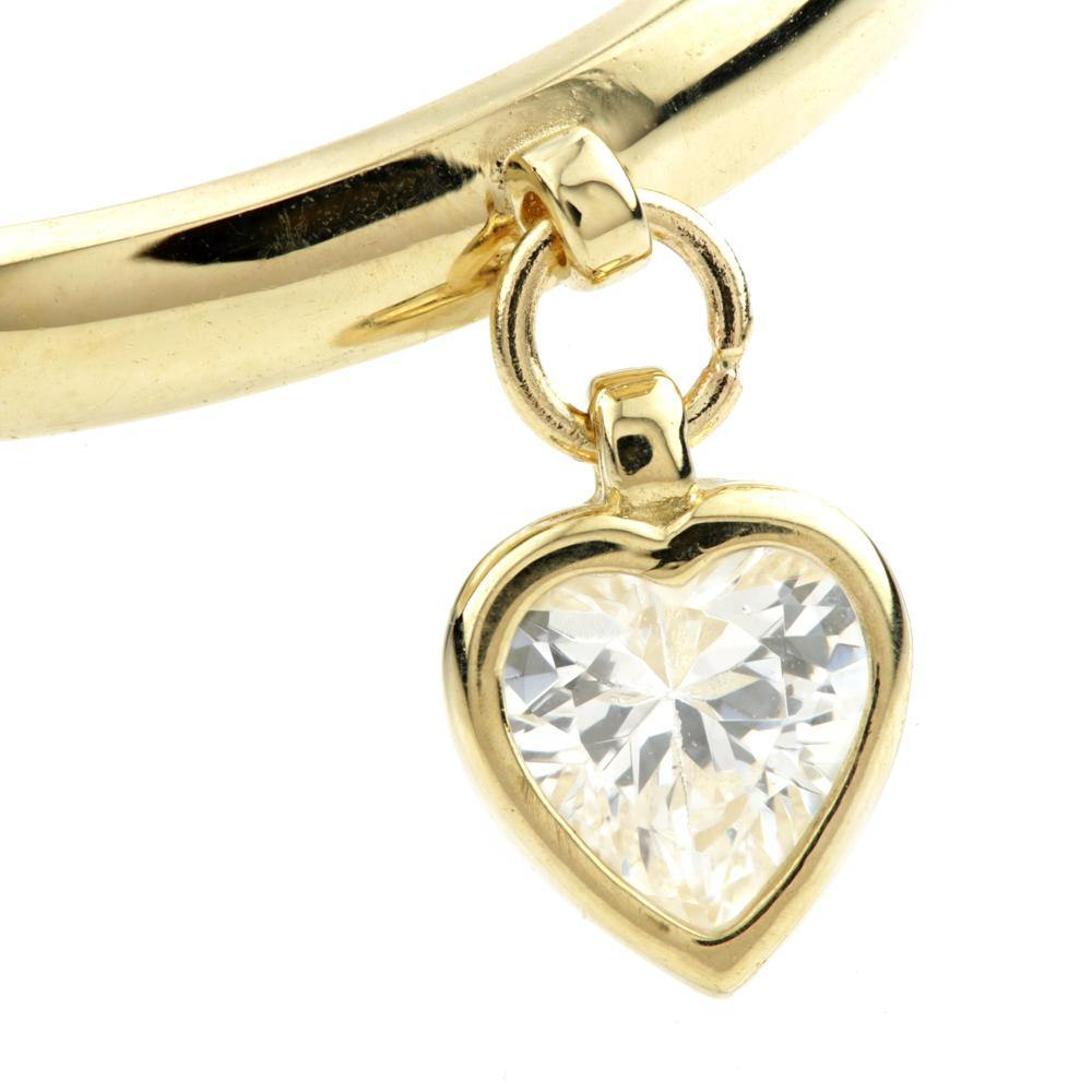 CZ Crystal Heart Charm set in 9ct Gold
