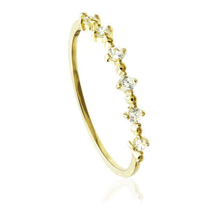 9ct Gold Crystal Stacking Ring