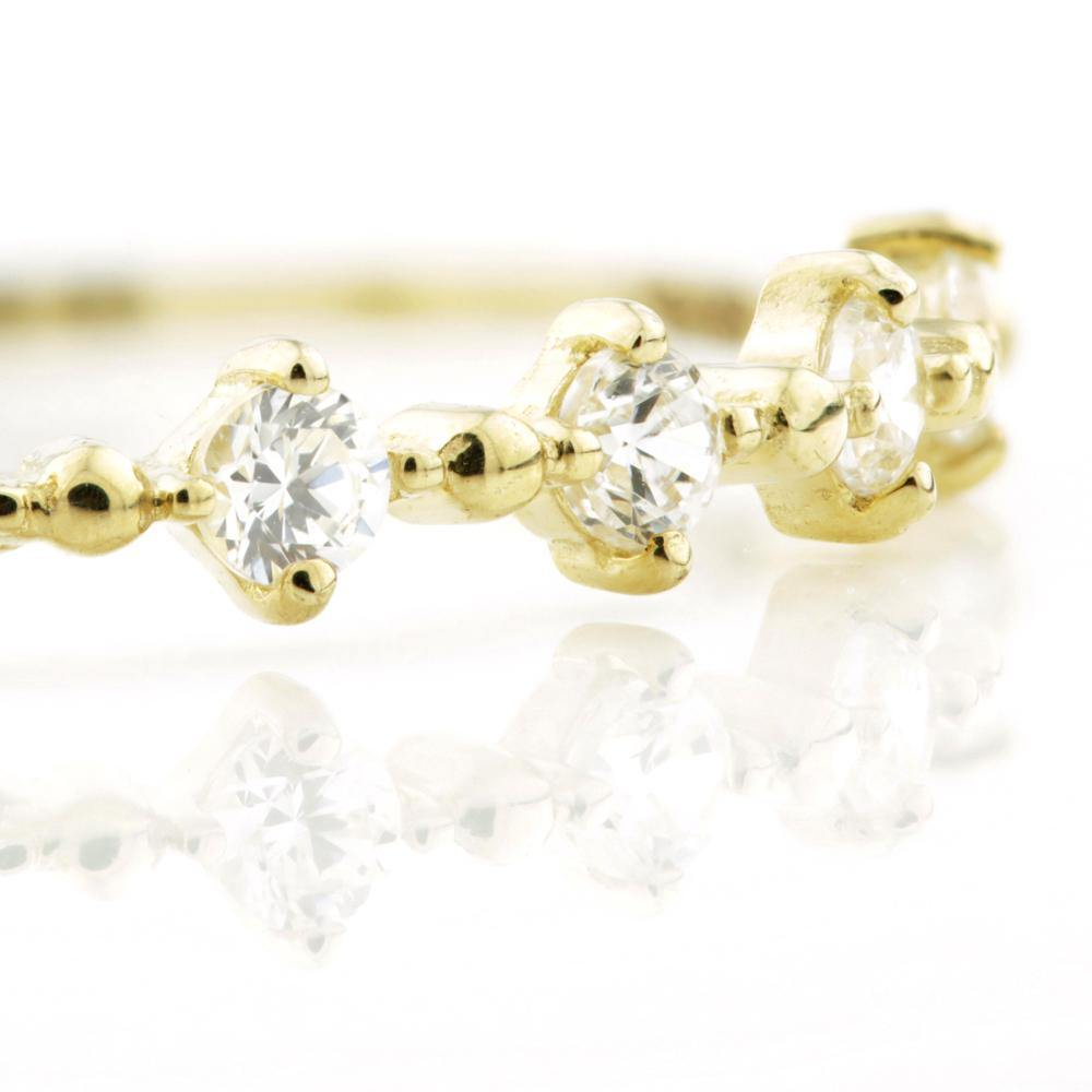 6x CZ Crystals on 9ct Yellow Gold