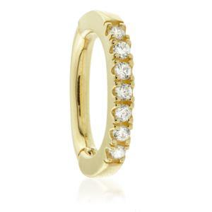 Open image in slideshow, 9ct Gold Oval Pave Rook Ring