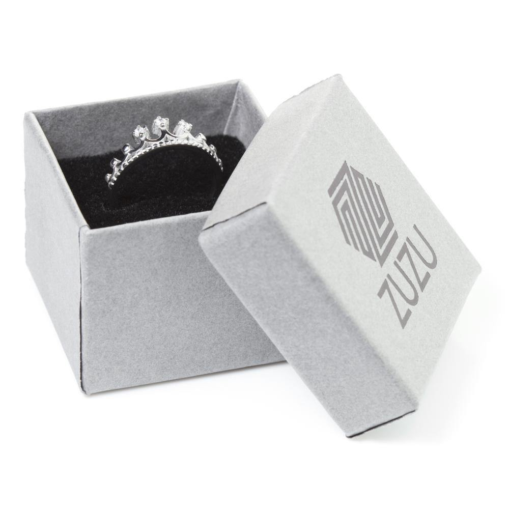 Jewel Princess Tiara Ring in Gift Box