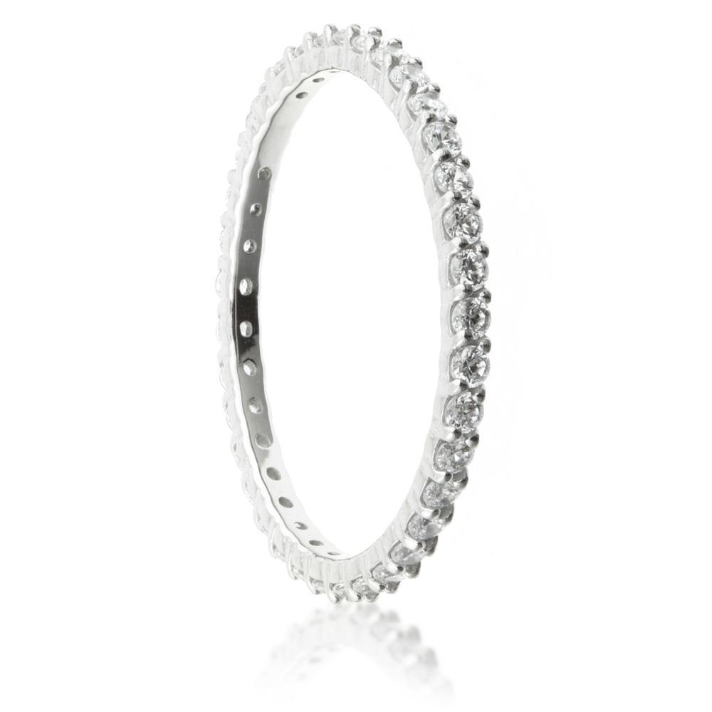 Swarovski Crystal Pave Eternity Ring