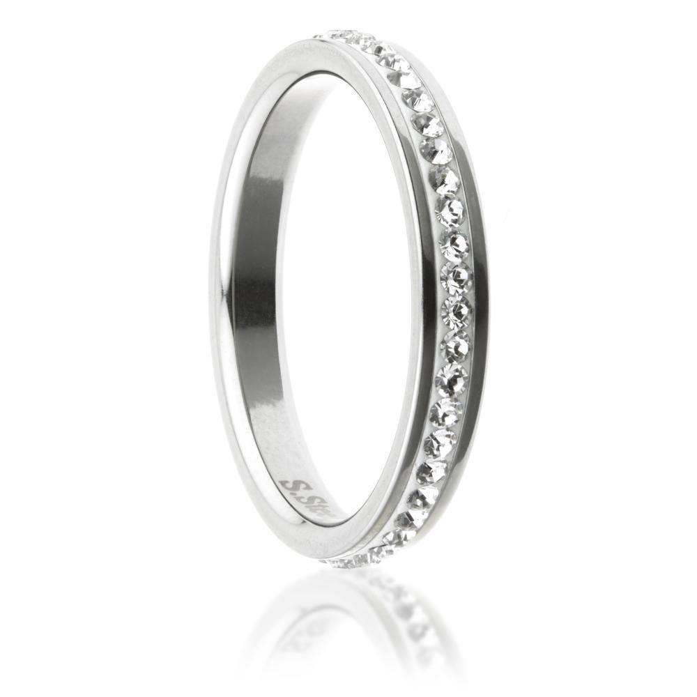 Swarovski Crystal Channel Eternity Ring