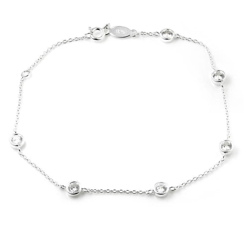 Silver Bracelet With Crystal Chelsea-Chain