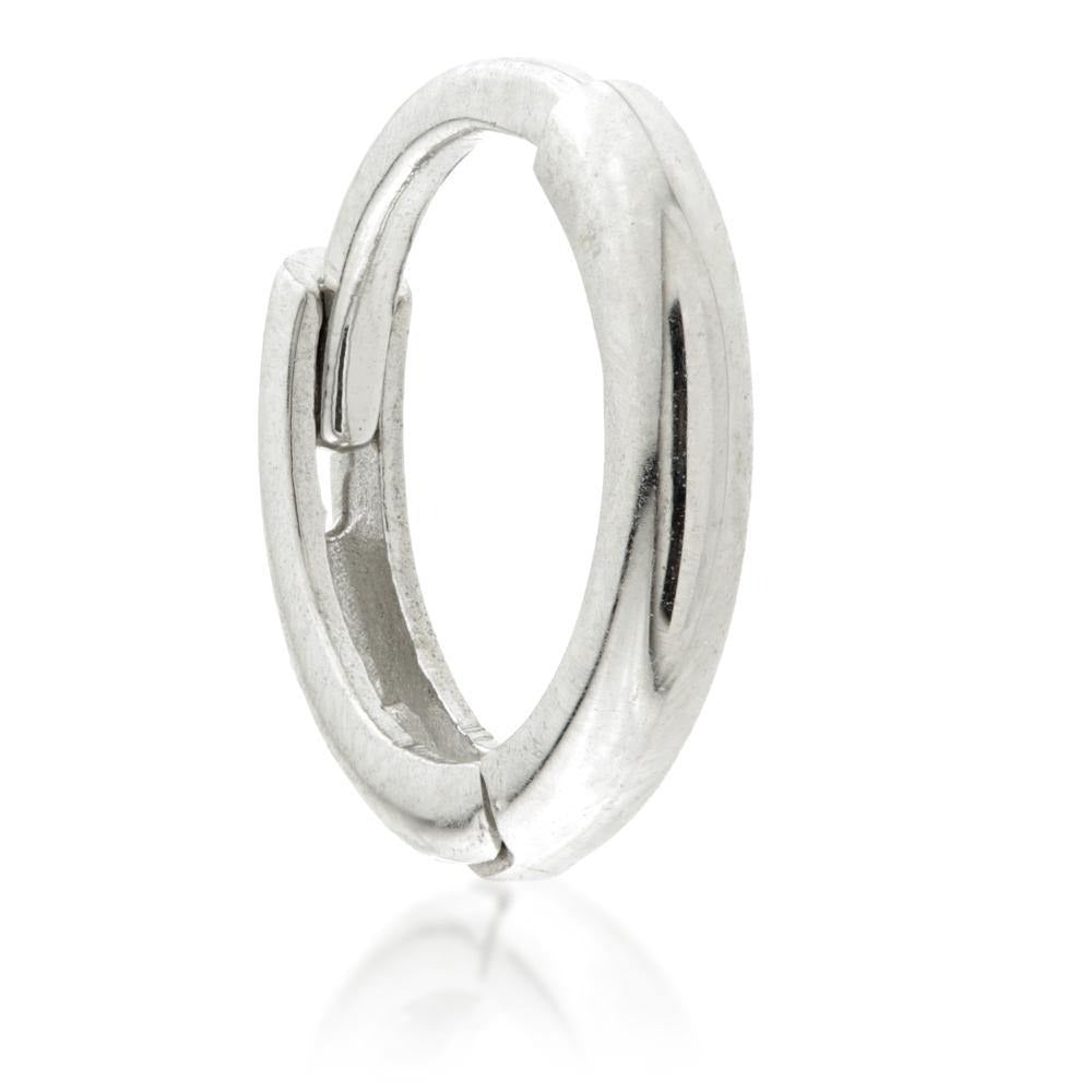 Silver Thin Plain Huggie Hoop Earrings