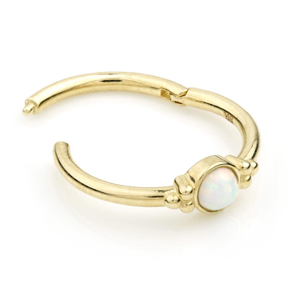 Gold Opal 11mm Segment Ring with Hinge
