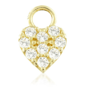 Open image in slideshow, 9ct Gold CZ Heart Charm for Plain Clicker Hoop