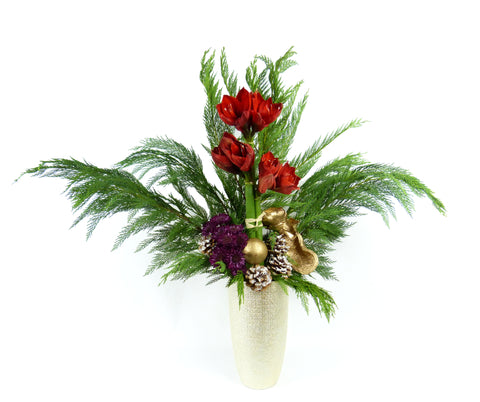 Alaric Flower Design Amaryllis Arrangement