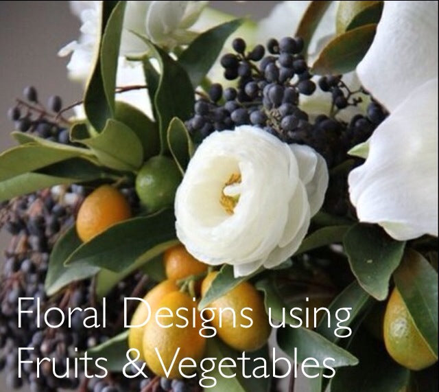 incorporating fruits vegetables and herbs in your flower arrangement