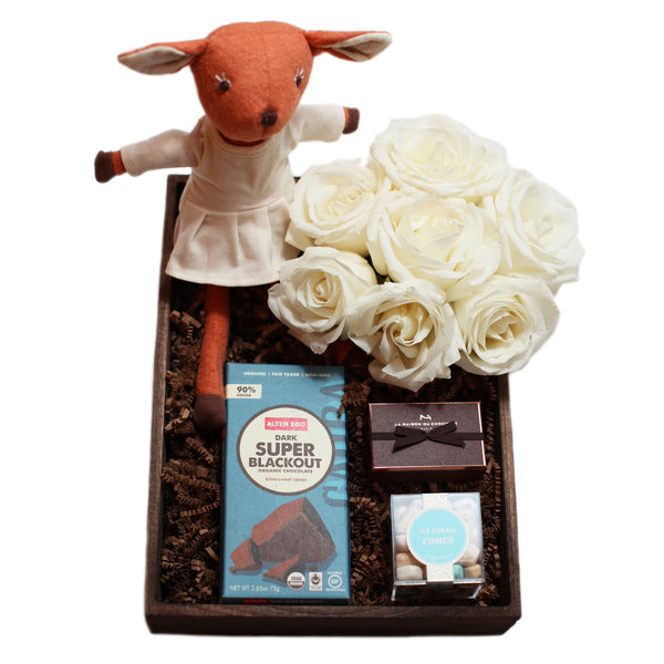 Manhattan same day gift delivery gourmet crate and baby basket