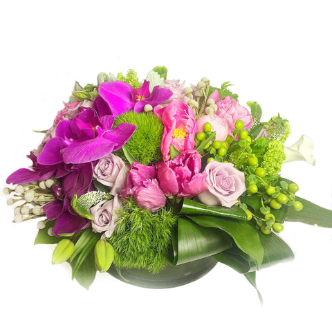 Spring Music Flower Arrangement - same day flower delivery and gift crate basket delivery Manhattan Midtown NYC New York 10019 10022
