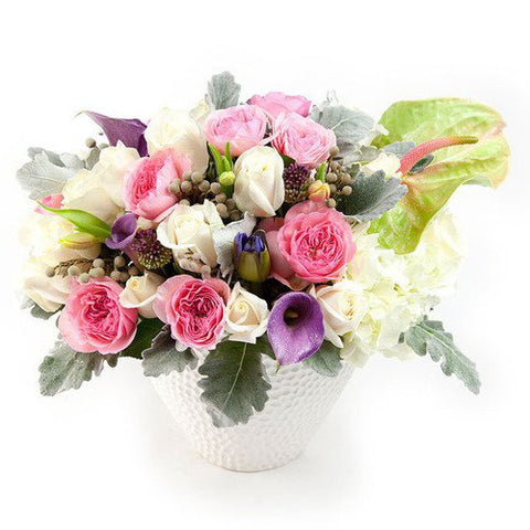 Alexandra Flower Arrangement flower delivery nyc manhattan florist pastel white flowers 10019