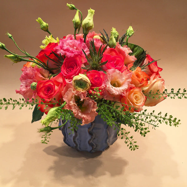 Best Florist NYC - Flower delivery Manhattan 10019 Peach Flair Roses