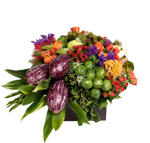 Harvest Flower Arrangement - thanksgiving - same day flower delivery and gift crate basket delivery Manhattan NYC New York 10019