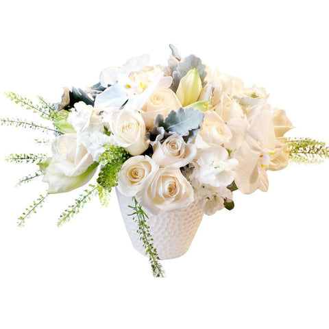 white flower delivery roses orchids nyc