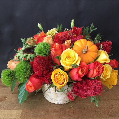 Breath of Autumn Flower Arrangement - Same Day Flower Delivery NYC