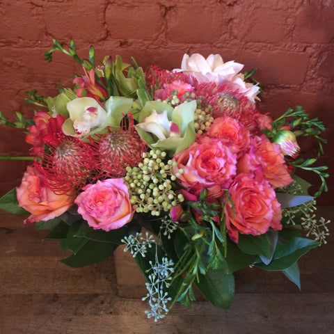 Fall Medley Flower Arrangement - same day flower delivery and gift crate basket delivery Manhattan NYC New York 10019