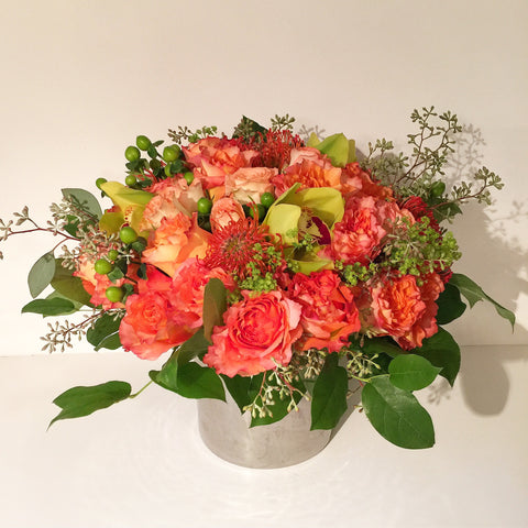 Happy Autumn Flower Arrangement - same day flower delivery and gift crate basket delivery Manhattan NYC New York 10019
