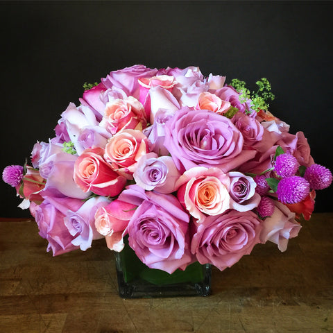 Roses Just For You Flower Arrangement - same day flower delivery and gift crate basket delivery Manhattan NYC New York 10019 10022
