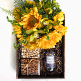 same day flower delivery manhattan gift crate sunflowers honey nuts