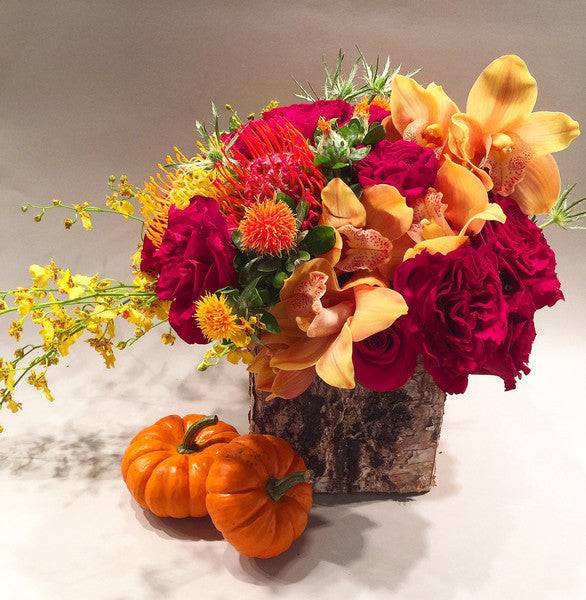 Autumn Rhapsody Flower Arrangement - Flower Delivery Manhattan, Same Day Flower Delivery NYC
