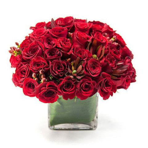 Luscious Flower Arrangement - same day flower delivery and gift crate basket delivery Manhattan NYC New York 10019 10022
