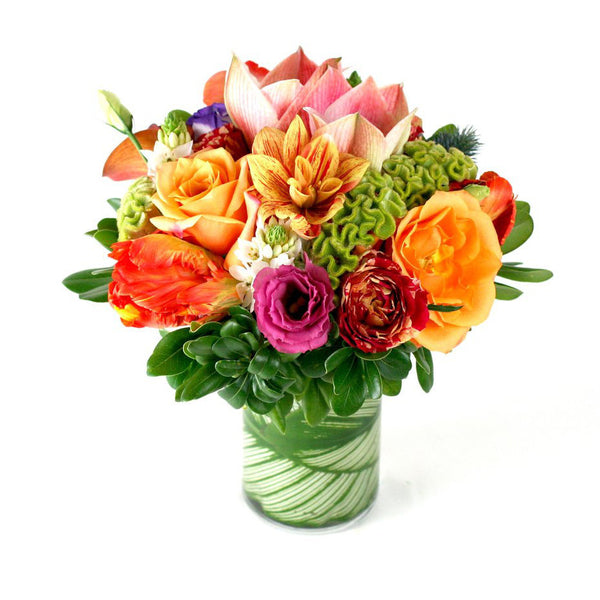 Secret Garden Flower Arrangement - same day flower delivery and gift crate basket delivery Manhattan Midtown florist NYC New York 10019 10022