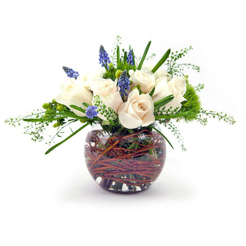 Serenity Flower Arrangement - same day flower delivery and gift crate basket delivery Manhattan Midtown NYC New York 10019 10022