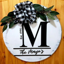 Load image into Gallery viewer, Personalized Monogram-Initial Established Sign